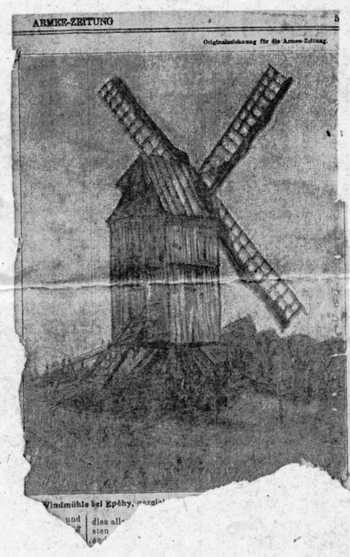Fig. 4. Dessin du moulin Moreaux