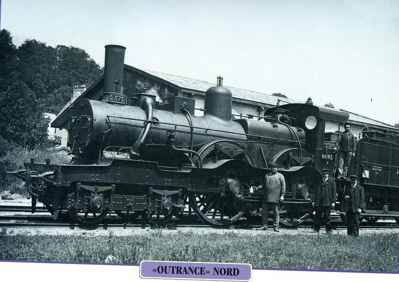 "Fig.1. La locomotive ""Outrance"" (Coll. C. Saunier)."