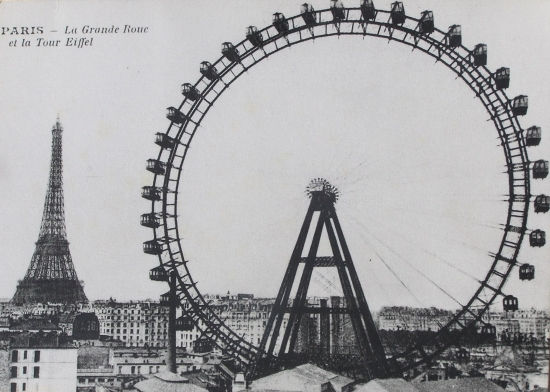 Fig.1. Carte postale de Paris (Image Internet, Coll. C. Saunier).